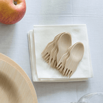 Veneerware® Bamboo Sporks and cocktail napkins