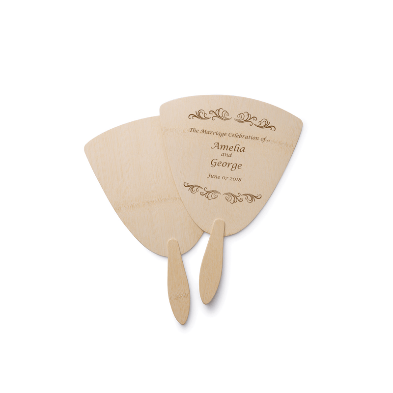 Veneerware® Bamboo Fan personalized