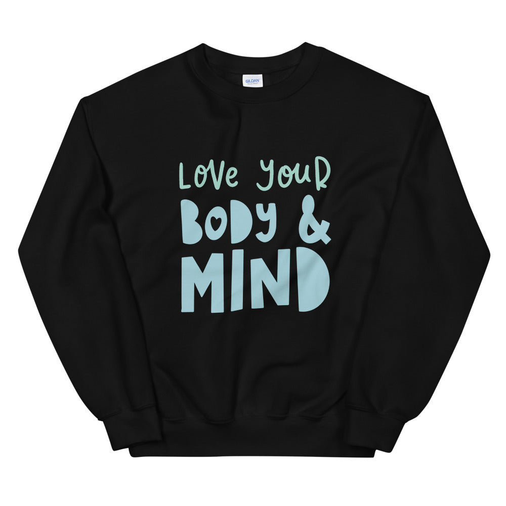 love your body & mind pullover