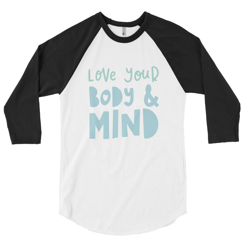love your body & mind 3/4 sleeve