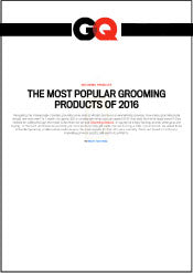 GQ Ernest Supplies Most Popular Grooming Products 2016