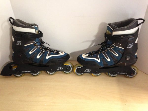 Inline Roller Skates Ladies Size 9 K-2 Blue Grey