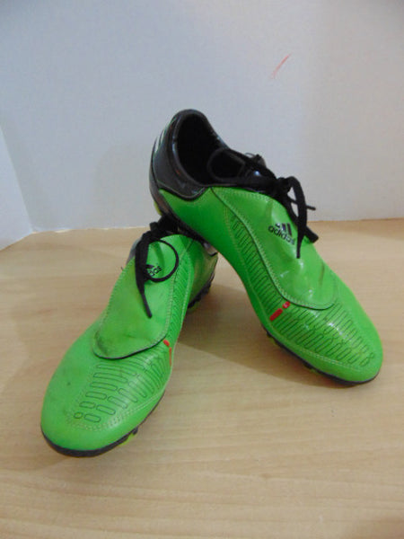 Soccer Shoes Cleats Men's Size 9 USA Adidas F10 Green Black Some Marks