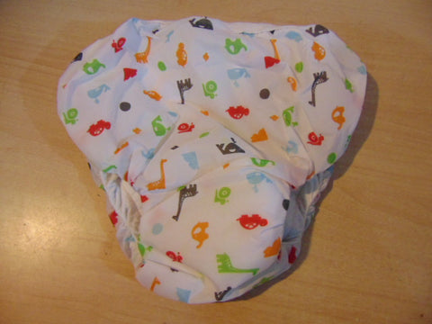 Kushies Potty  XX/L 45-50 LB Taffeta Waterproof Pull Up Training Pants ALL NEW Baby Animals White