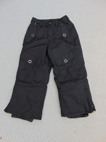 Snow Pants Child Size 4 Black With Oversized Pockets. Mint Condition *