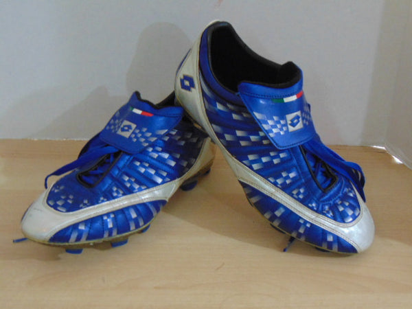 Soccer Shoes Cleats Men's Size 10.5 USA Lotto Blue Silver Minor Wear