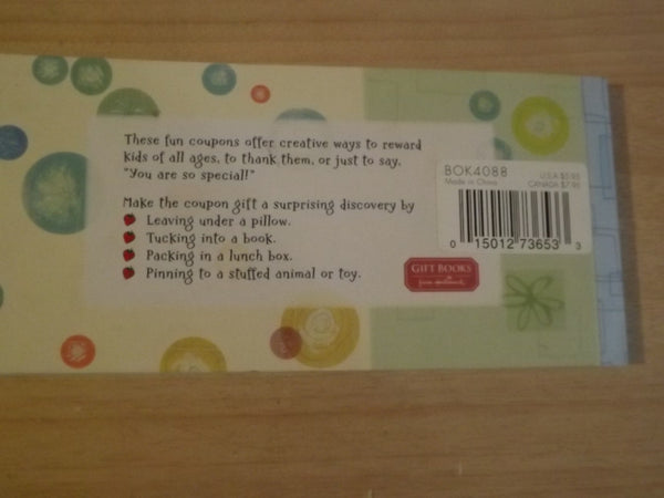 Hallmark To Kids with Love Coupons Childrens Softcover Coupon Book *