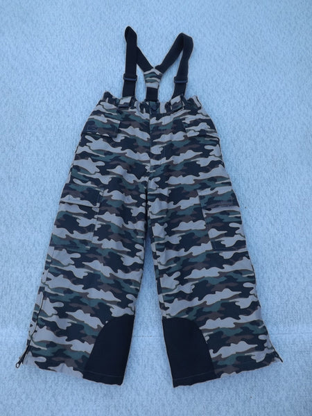 Snow Pants Child Size 5 Alpine Tek Camo Print with Straps