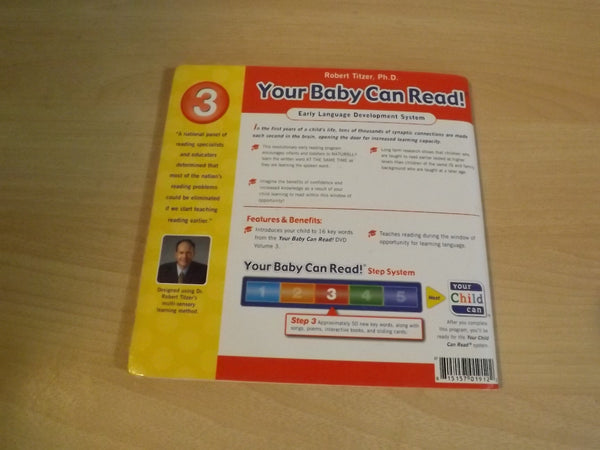 Your Baby Can Read Book 3 Lift Flap Word/Picture Softcover Book  *