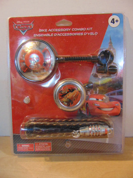 Bike New Accessory Combo Kit Disney Cars Bell Lock Mirror