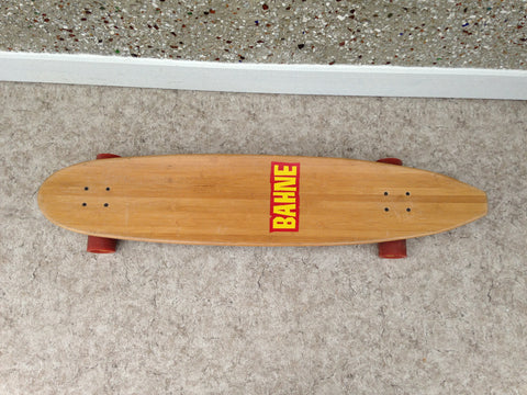 "Skateboard Bahne 44"" Deluxe Bamboo Long Board Excellent As New"