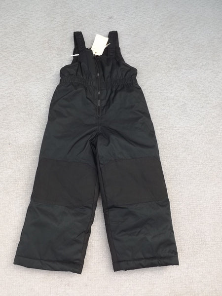 Snow Pants Child Size 4 with Straps Black