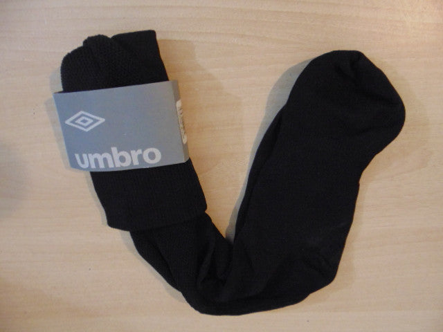 0f209f335eb6 Soccer Socks Umbro Mens Size 10-13 NEW Black