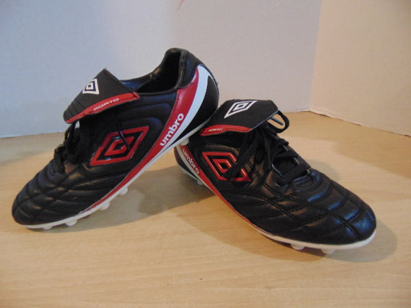 Soccer Shoes Cleats Men's Size 6 Umbro Porto Black Red