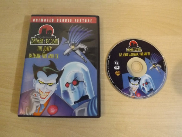 DVD Movie The Adventures of Batman and Robin The Joker and Batman: Fire and Ice Childrens DVD Movie