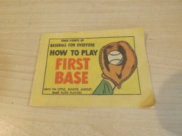 Vintage 1957 How to Play First Base Baseball Mini Paper Book Babe Ruth