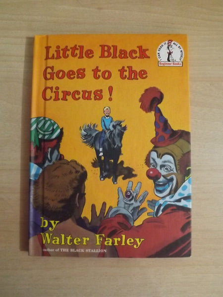 Dr. Seuss Vintage Little Black Goes To The Circus! Walter Farley Children's Book