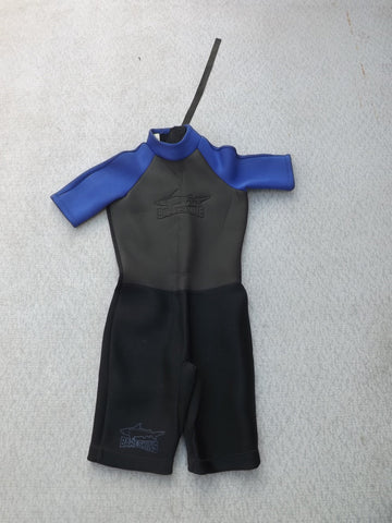 Wetsuit Child Size 12 Bare Skins Black Purple Neoprene 2/3mm