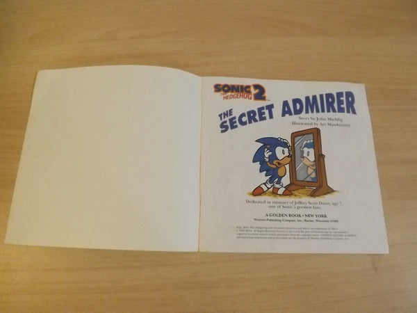 Vintage Children's Book 1994 Sonic The Hedgehog 2 The Secret Admirer Childrens Softcover Book *