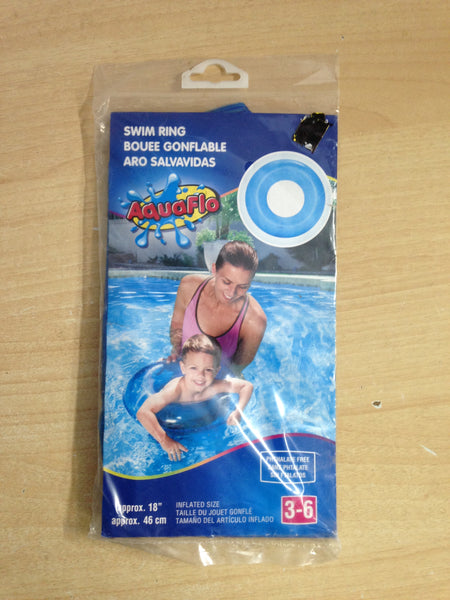 Beach and Pool Inflatable Swim Ring New In Package 18""
