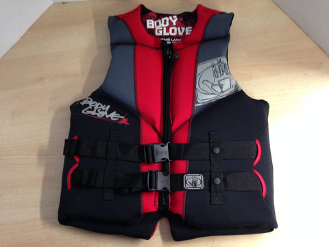 Life Jacket Men's Size Large Body Glove Ski Surf Neoprene Black Red New Demo Model