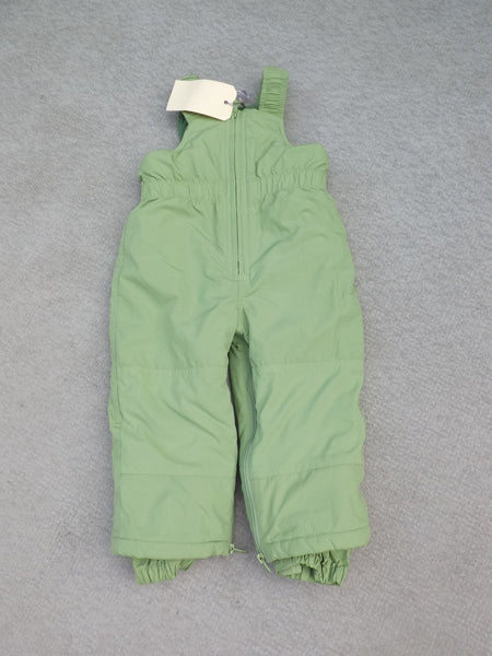 Snow Pants Child Size 24mos The Childrens Place Apple Green with Bib