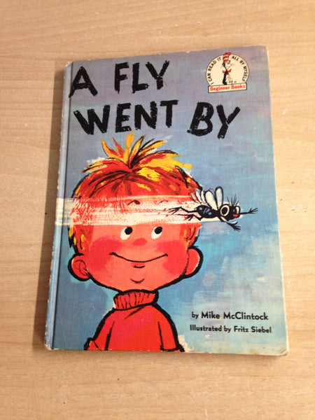 Dr. Seuss A Fly Went By Vintage Large Hard Covered Children's Book