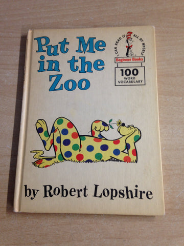Dr. Seuss Put Me In The Zoo Vintage Hard Covered Children's Book