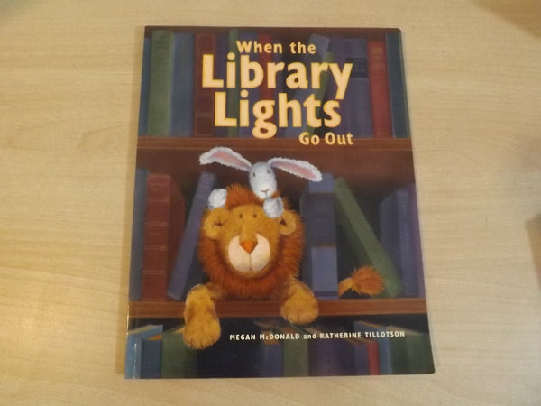 When The Library Lights Go Out Megan McDonald Large Soft Cover Book