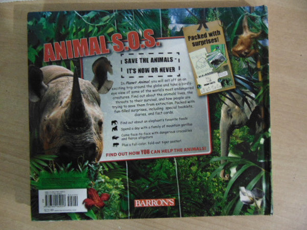 Planet Animals Saving Earths Dissappearing Animals S.O.S. Large Educational Book