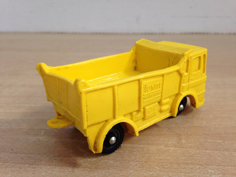 "1950's Vintage Tomte Lardel #26 Made In Norway 4"" Transport Dump Truck Yellow RARE"