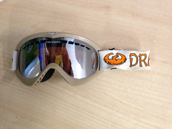 Ski Goggles Adult Size Dragon Tan Orange Minor Wear