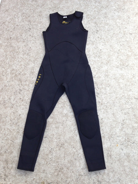 Wetsuit Ladies Size Small Full John 2-3 mm Level Six Black Excellent