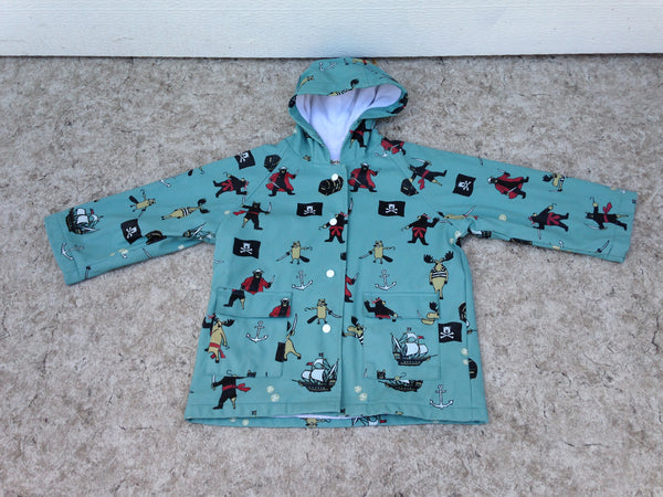 Rain Coat Child Size 3 Hatley Pirates Adorable