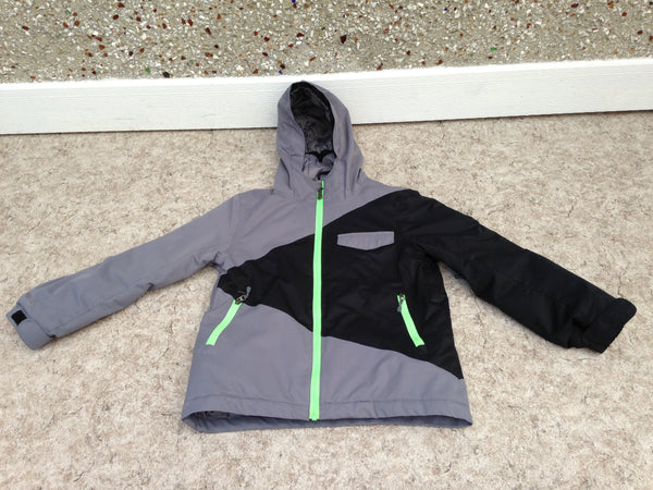 Winter Coat Child Size 12 Firefly Black Grey Lime With Waist Belt Snow Belt