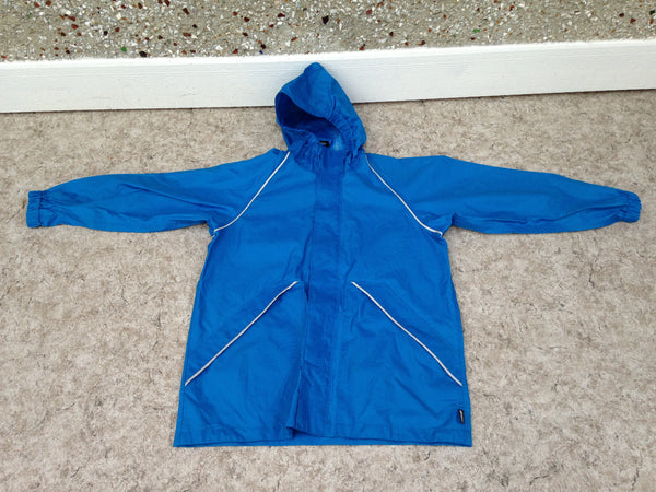 Rain Coat Child Size 12 MEC Blue With Reflectors Waterproof
