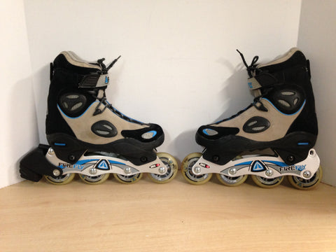 Inline Roller Skates Ladies Size 7 Firefly Blue Black Excellent