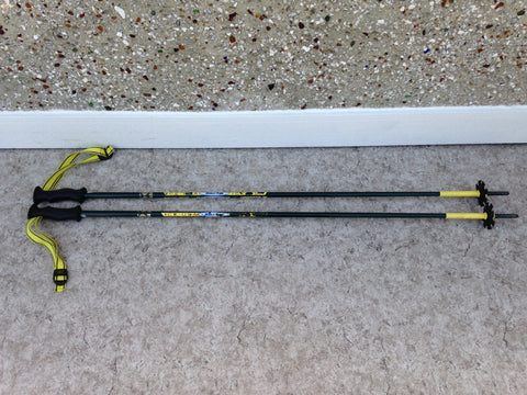 Ski Poles Adult Size 48 inch Ice USA Gold Cup World Team Green Yellow Rubber Handles Excellent