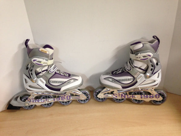 Inline Roller Skates Ladies Size 7 Rollerblades Brand New Without Box Purple Rubber Tires