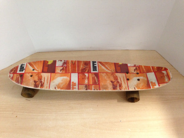 1970's Vintage Surfer Magazine Promotional Fiberglass SkateBoard RARE Some Wear due to age.