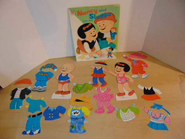 1974 Vintage Whitman Nancy And Sluggo Paper Doll Set RARE