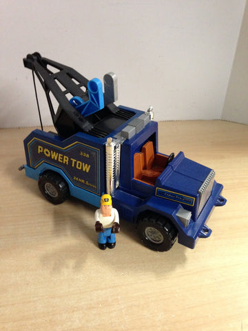 1982 Fisher Price Vintage Husky Helpers Power Tow Truck With All Accessories Excellent As New