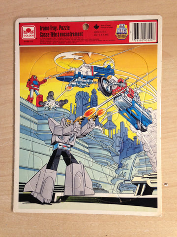 1985 GO BOTS Robots Golden Frame Tray Puzzle Complete RARE