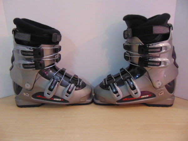 Ski Boots Mondo Size 24.5 Men's Size 6.5 Ladies Size 7.5 280 mm Nordica Grey Black