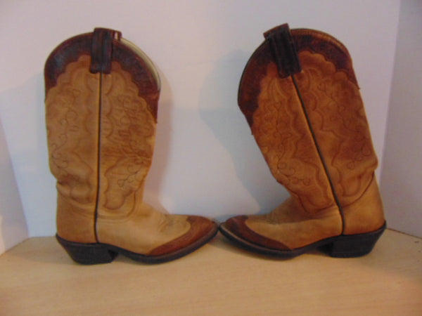 Cowboy Western Boots Ladies Size 5 Canada West Leather Brown