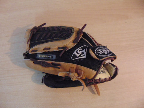 Baseball Glove Adult Size 11 inch Lousiville Slugger Genesis Black Tan Leather Fits On Right Hand
