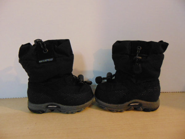 Winter Boots Child Size 5 Infant Toddler Kamik Black Waterproof As New