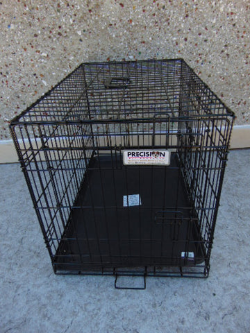 My Little Pet Shop Pet Crate Dog Kennel Medium 30-45 Lb Metal Folding  30 x 24 x 18