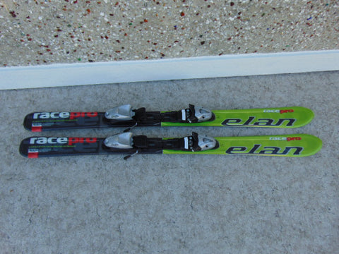 Ski 120 Elan Race Pro Parabolic Black Lime With Bindings As New