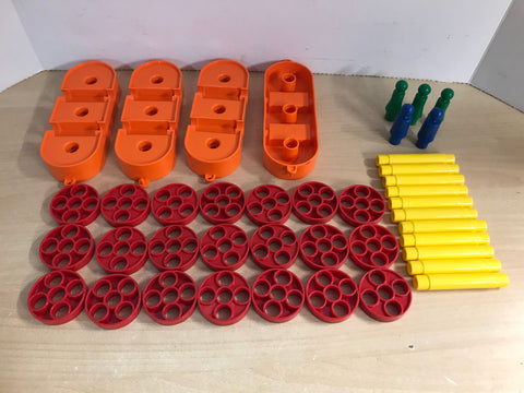 1975 Vintage 41 pc Tupperware Tuppertoy Amphibio Building Car Train Toy Lot RARE